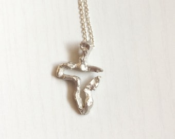 Cross in sterling silver 925