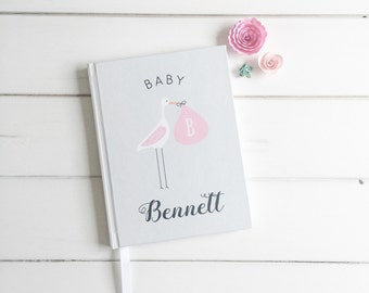 Baby Book Baby Shower Guest Book. Custom Baby Shower Advise Book Gift. Personalized Baby Book Baby Shower Gift. Wishes Book for Baby Shower.