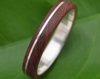 Size 10.25 Wood Ring READY TO SHIP Asi Nacascolo Wood Ring - sustainable wedding ring in rosewood