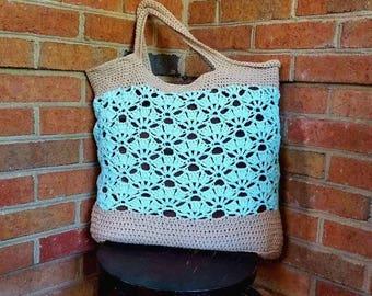 Falling Fans Market Bag Crochet Pattern *PDF FILE ONLY* Instant Download
