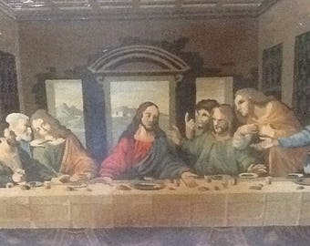 Vintage, Paint by number, Last Supper, Religious Art, Church Decor,