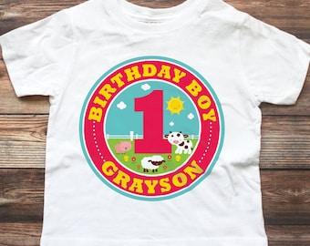 Barnyard Birthday Shirt - Personalized Barnyard Birthday Outfit - Custom Barnyard 1st Birthday Shirt - Farm 1st Birthday Shirt - Farm Party