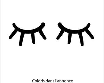 Decals: sleepy eyes, big eyes vinyl sticker decor child's room
