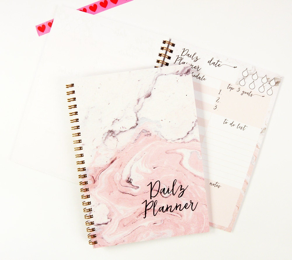 Daily planner notebook marble notebook to do list notebook zoom arubaitofo Image collections
