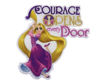 Courage from Rapunzel Iron On Applique, Genuine Disney Iron On Patch, Rapunzel Patch, Rapunzel Applique, Disney Applique, Kids Patch