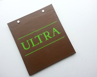 Race Bib Holder - Ultra Marathoner - Hand-Bound Book for Runners - Brown and Light Green