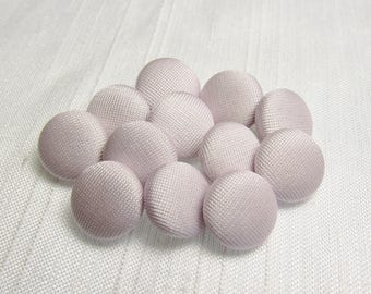 """Palest Lavender: 7/16"""" (11mm) Fabric-Covered Pad Shank Buttons - Set of 12 New / Unused Matching Buttons"""