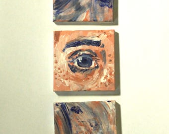 Abstract eye small painting set