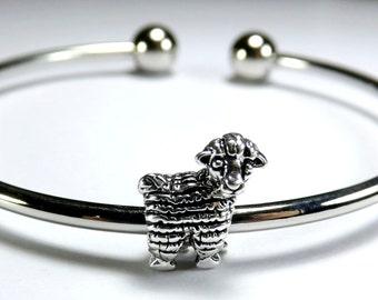 European Bead: Sheep Charm, 15x12mm, Hole 4.5, Sheep Bead, European Charm, Lamb Charm, EUR009