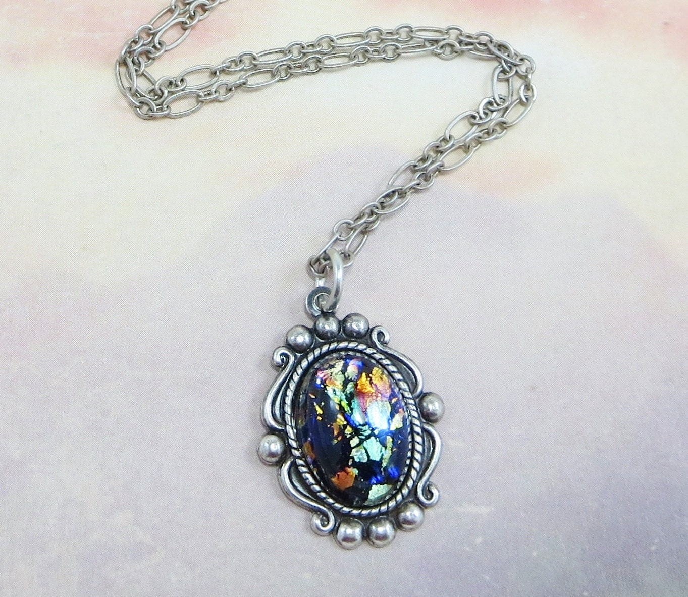 pendant blue and cat products w opal sterling silver necklace green fire