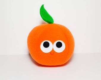 Plush Orange - Plush Food - Play Food - Orange - Navel Orange - Anthropomorphic - Stuffed Toy - Gift For Kids - Toy Orange