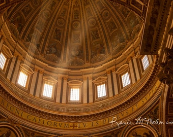 Italy print, church photography, Vatican photo art, Italian decor, travel photo, religious art, black white photo, St. Peters Basilica