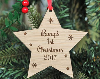 Bump's First Christmas Decoration, Bump's First Christmas, Bumps' 1st Christmas Ornament, Bump Christmas Gift, Bump's First Christmas bauble