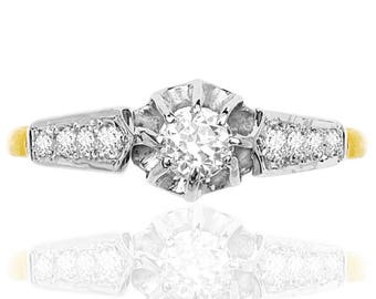 Vintage Bridge... Original Diamond Engagement ring