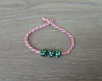 Kids jewelry bracelet wood beads