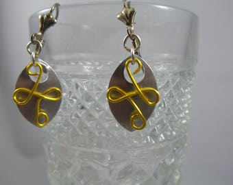 Filigree  Gold Scalemaille Earrings