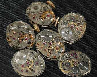 Vintage Antique Tiny  Watch Movements Steampunk RT 47