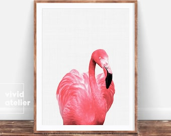Flamingo Print, Flamingo Wall Art, Downloadable Print, Beach Decor, Prints Wall Art, Nursery Wall Art, Printable Wall Art, Photography Print