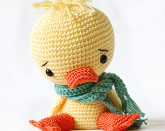 Amigurumi Crochet Duck Pattern - Chico the Duck - Softie - Plush