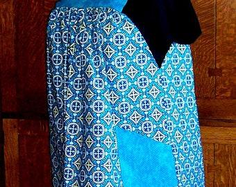 Plus Size Smock Apron - Turquoise Apron Smock - No Tie Smock Size 3XL to 4XL