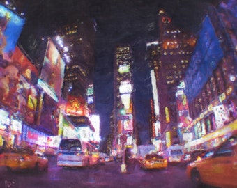 New York City NYC Times Square Painting Poster Print
