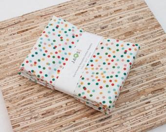 Large Cloth Napkins - Set of 4 - (N4911) - Confetti Colorful Dot Modern Reusable Fabric Napkins