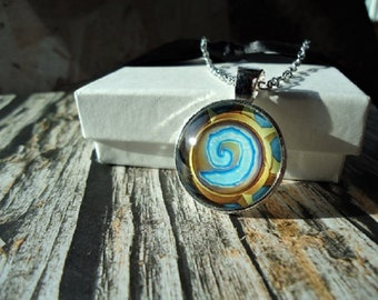 Hearthstone Silver Necklace or Key-chain | World of Warcraft, Teleport, Multiplayer Role Play, Fantasy, Video Games