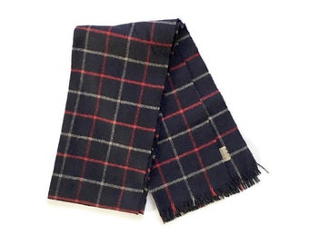 Vintage Cashmere Plaid Scarf , Mens vintage scarf