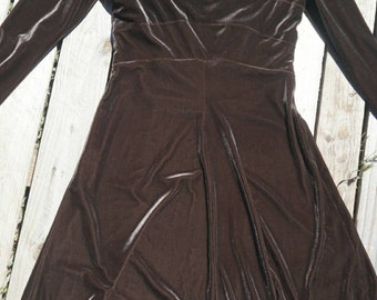 Chocolate Velvet Juliet dress Size sm