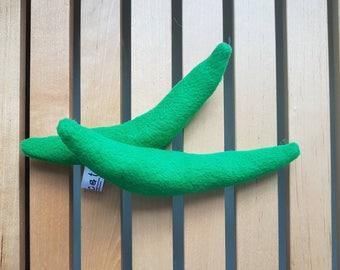 Pair of catnip green beans , catnip toy, cat toy uk