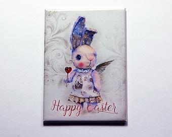 Easter Magnet, Easter Bunny Magnet, Kitchen magnet, ACEO, Fridge magnet, Easter gift, Bunny, Rabbit, easter card, easter bunny (7138)