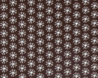 Snowflakes on Dark Brown from Camelot Fabric's Snowfall Collection by Paula McGloin