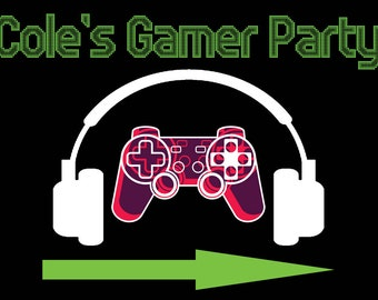 Personalized Gamer Party Yard Sign w/ Ground Stake | Video Game Party | Gamer Birthday Party | Yard Sign | Personalized Lawn Sign