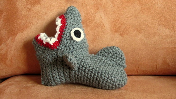 Crochet Pattern Shark Slippers Childrens Sizes Eur Sizes 23