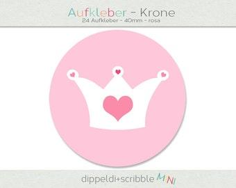 Sticker baby pink balloon