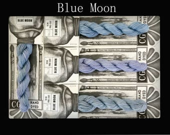 Blue Moon Cottage Garden Threads Stitchers Palette -CGT- 6 Strand Cotton embroidery thread- Hand Dyed Thread-Quilting Australia