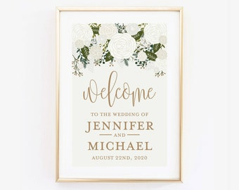 Wedding Welcome Sign Large Welcome Wedding Sign Welcome Wedding Poster Printed Wedding Welcome Sign Canvas or Large Art Print #CL112