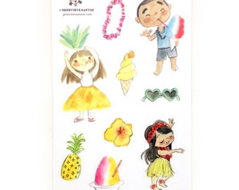 Hawaii Edition Sticker Pack - 4x6 Sheets