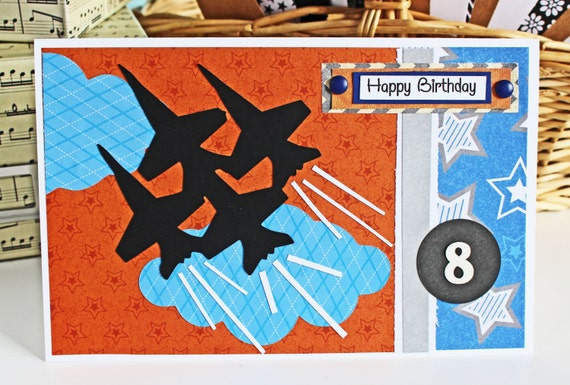 Fighter Jet Personalized Birthday Card Customize The