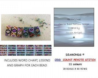 Diamonds  - Carrier Bead Patterns