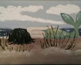 Staring At The Sea - Oil Painting