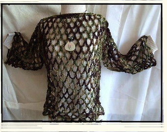 crochet pattern - 4 piece set - Sweater, Beach Cover-Up, Poncho, Rasta Hat - children, women, num. 570