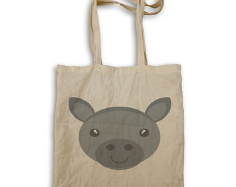 Face Cute Donkey Tote bag q810r