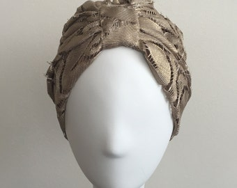 GOHARA Metallic Lace Turban