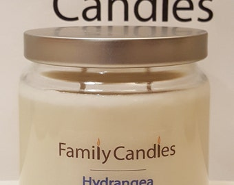 Family Candles - Hydrangea 16 oz Double Wicked Soy Candle