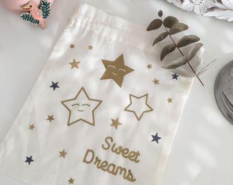 Personalized Sweet Dreams, kids pouch storage, school stuff, travel pouch