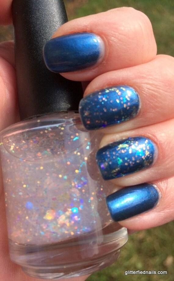 Shattered Opal Opalescent Iridescent Glitter Nail Polish 5