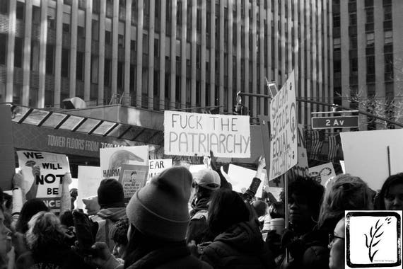 """""""Fuck the Patriarchy,"""" New York City Women's March, 2017."""