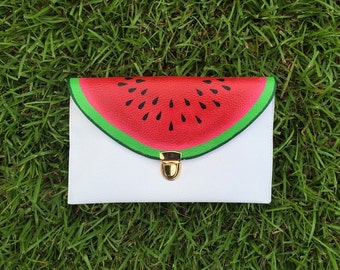 Watermelon Clutch: Hand Painted Fruit Clutch