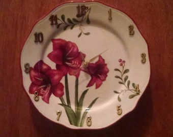 Gorgeous Floral Adorable Homemade Clock Plate